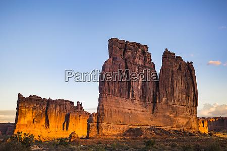 usa utah rock formations at arches