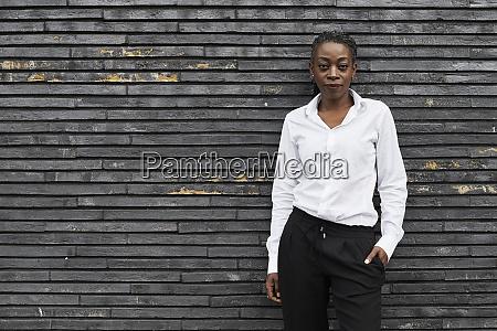 portrait of smart businesswoman wearing