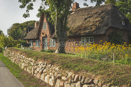 germany schleswig holstein sylt keitum thatched