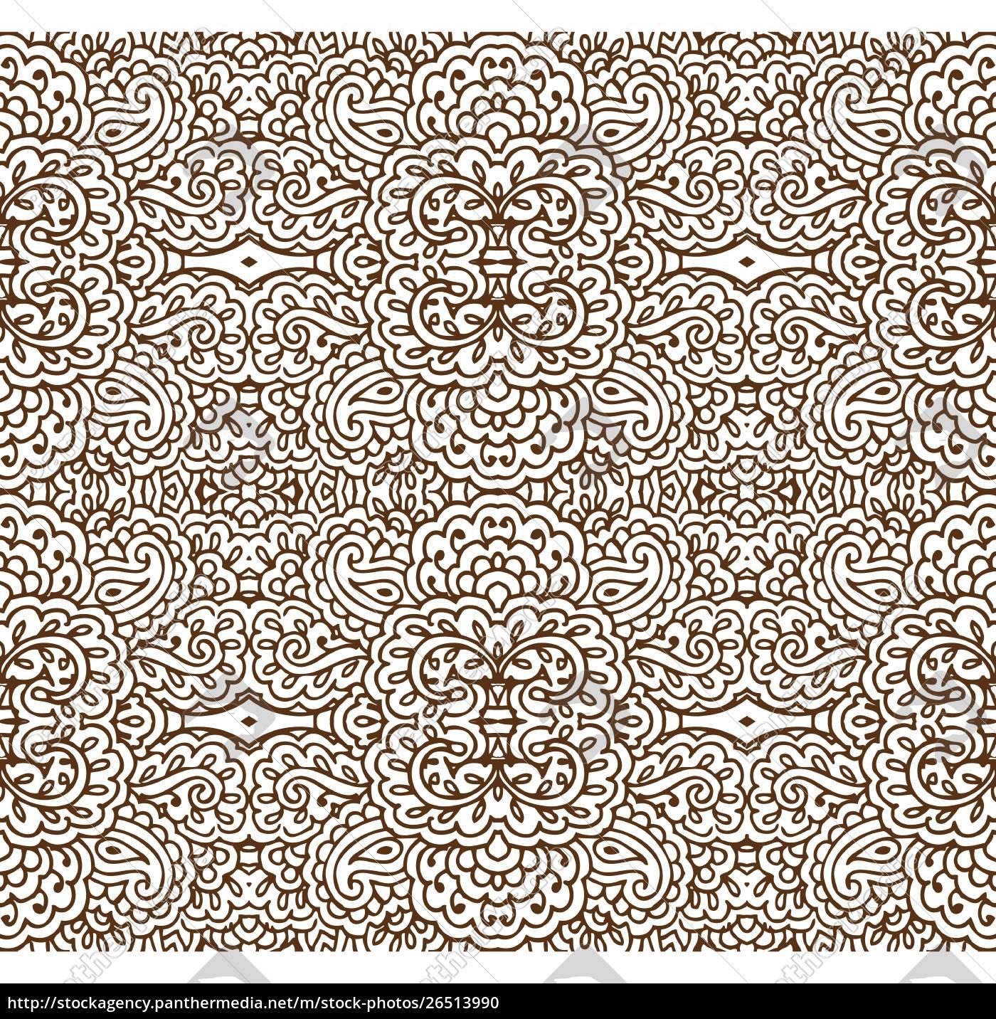 nahtloses, sepia-tapetenmuster - 26513990