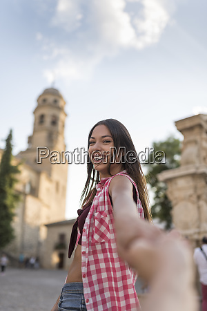 spain baeza portrait of happy young