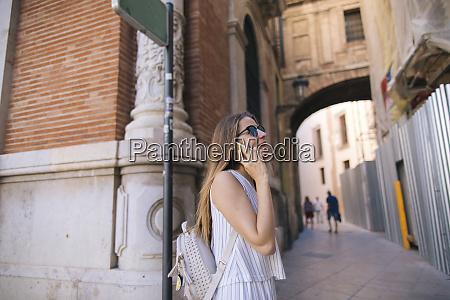 spain valencia woman on the phone