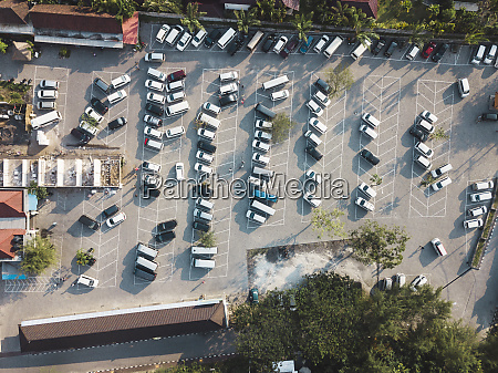 indonesia bali aerial view of car