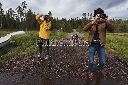 finland lapland photographers taking pictures in