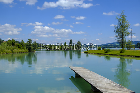 germany bavaria east allgaeu lech reservoir