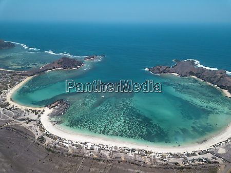 indonesia lombok aerial view of beach