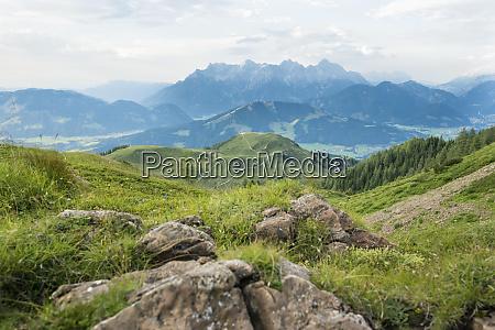 austria tyrol fieberbrunn mountain panorama seen