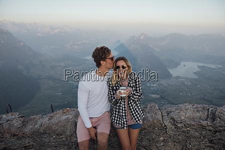 switzerland grosser mythen happy young couple
