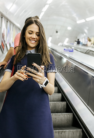 uk london portrait of smiling businesswoman