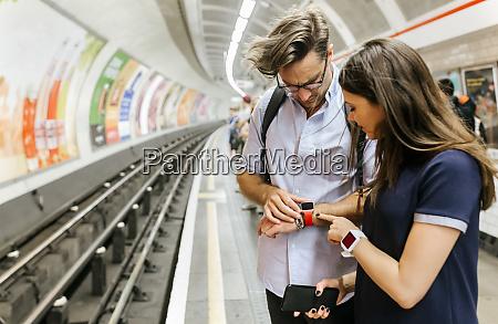 uk london couple waiting at