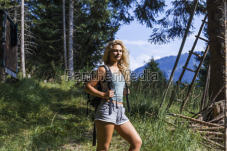 germany bavaria oberammergau young woman on