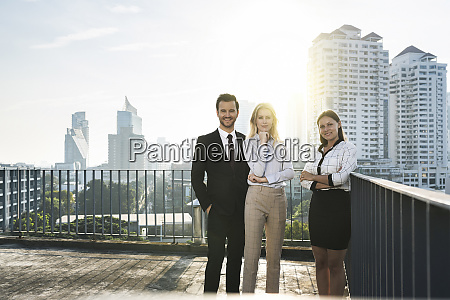 portrait of two businesswomen and a