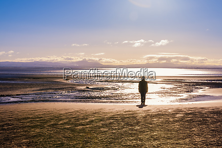 great britain scotland solway firth silhouette