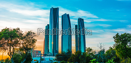 etihad towers in abu dhabi vereinigte