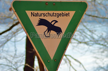 schild naturschutzgebiet