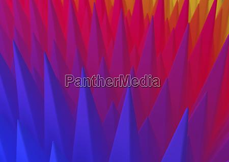 abstrakte reihen von spikes in farbverlauf