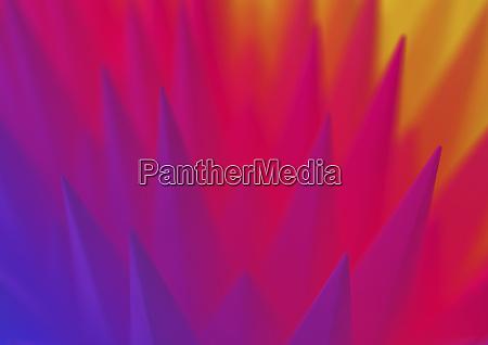 abstrakt spitz muster in farbverlauf