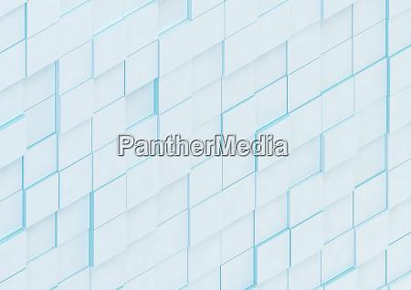abstrakte wand aus unebenen quadratischen bloecken