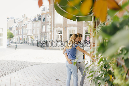 netherlands maastricht young couple looking in