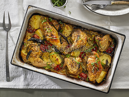 huhn gebacken mit yukon goldkartoffeln kirschtomaten