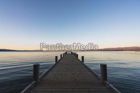 usa california lake tahoe at sunset