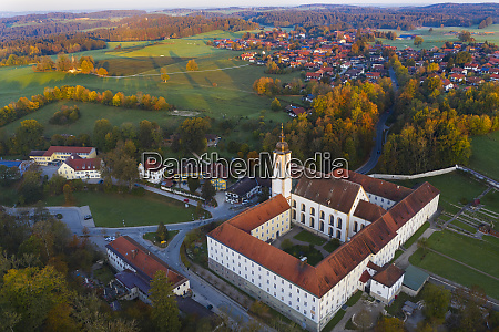 germany bavaria upper bavaria dietramszell aerial