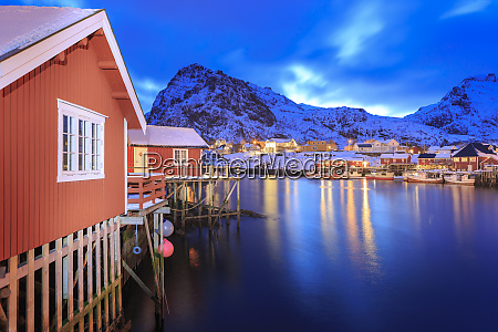 norway lofoten islands fishing village sorvagen