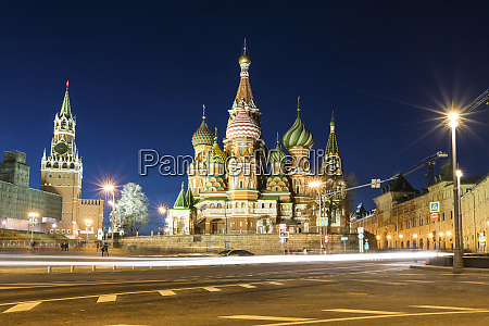 russia moscow kremlin and st basilss
