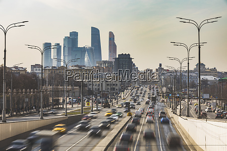 russia moscow traffic on krimsky val