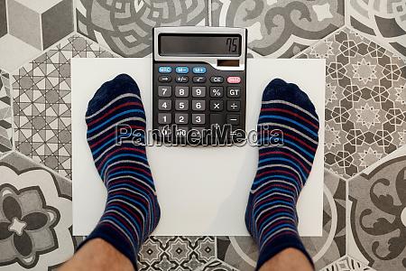ideal weight calculator concept