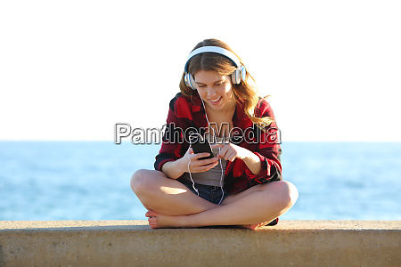 musik hoeren hoeren kopfhoerer telefon video