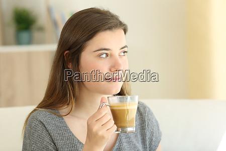 kaffee frau trinken trinken geist haus