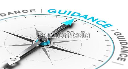 esoterische oder spirituelle fuehrung abstrakte kompass