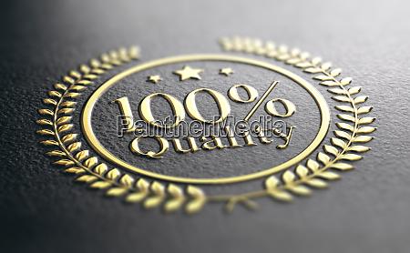 hohe qualitaet garantie goldener stempel garantiertes