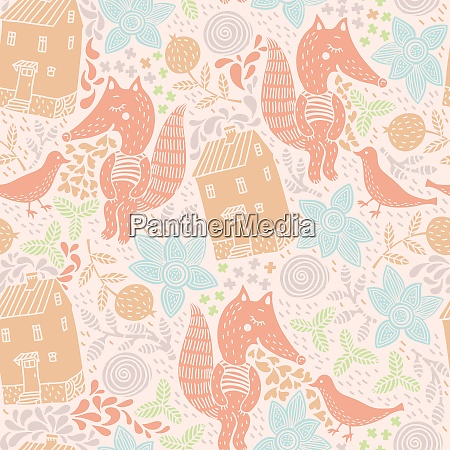 vector seamless pattern with abstract