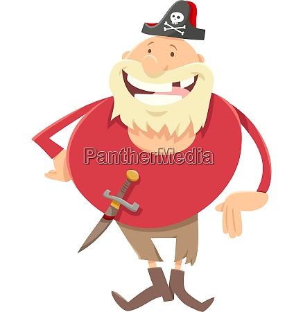 fantasy pirate cartoon illustration