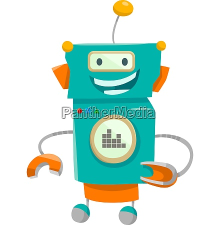 fantasy robot character cartoon illustration
