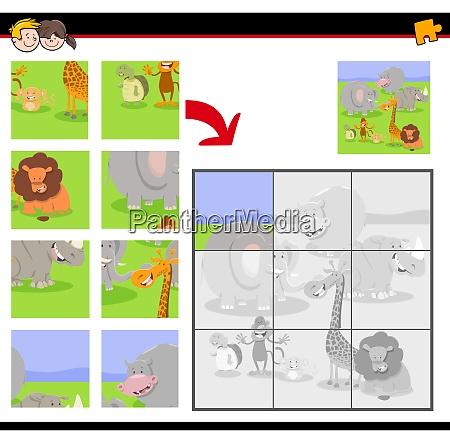jigsaw puzzles with cute cartoon animals