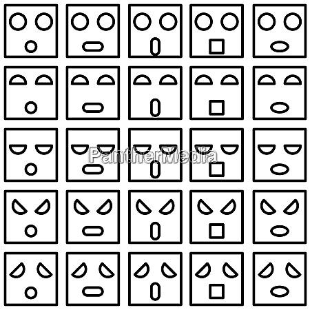 ikonen von smiley emotionsgesichtern vektor illustration