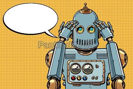 der roboter denkt denker