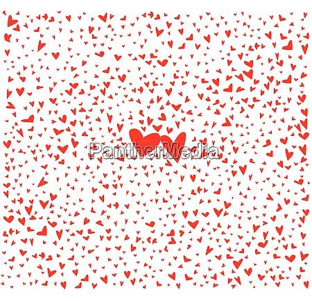 rote kleine liebe herzen hintergrund