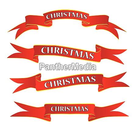 weihnachten band banner set auf weiss