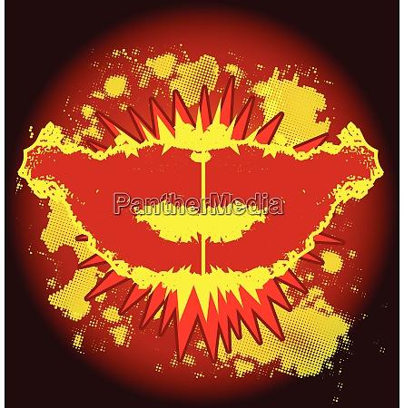 explosive kiss