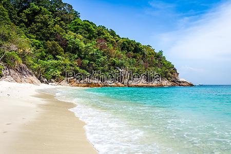 romantischer strand perhentian islands terengganu malaysia