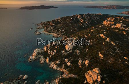 scenic sardinia island landscape italy sea