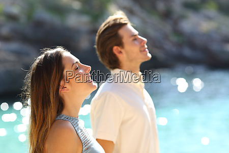 couple breathing fresh air on the