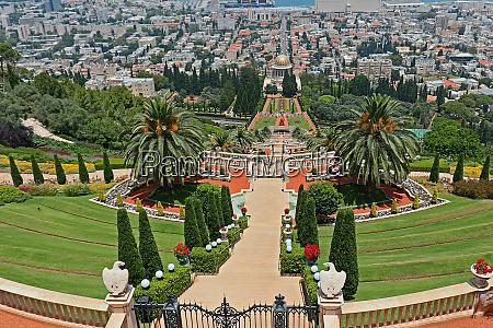 bahai gaerten in haifa israel