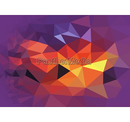 colorful polygonal background with sunset abstraction