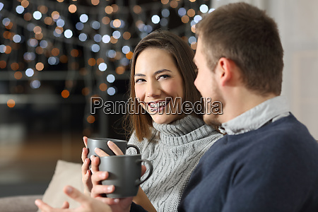 couple talking in the night in