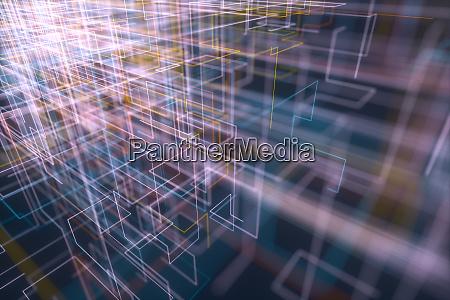 abstract hintergrund geometrische verbindungen
